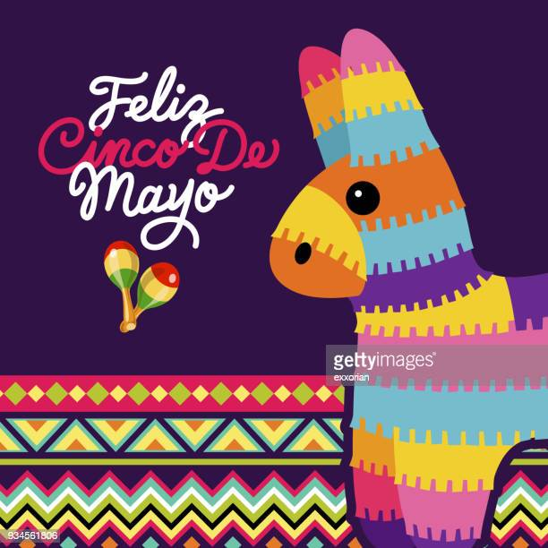 cinco de mayo mexican pinata - cinco de mayo stock illustrations
