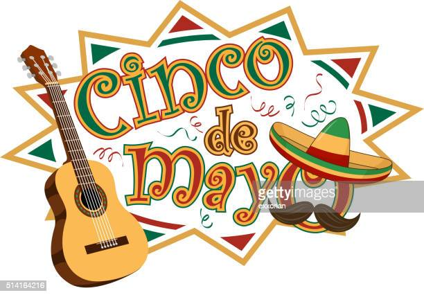 cinco de mayo party symbol - cinco de mayo stock illustrations
