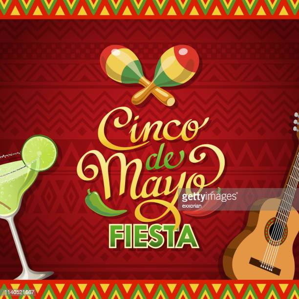 cinco de mayo party - cinco de mayo stock illustrations