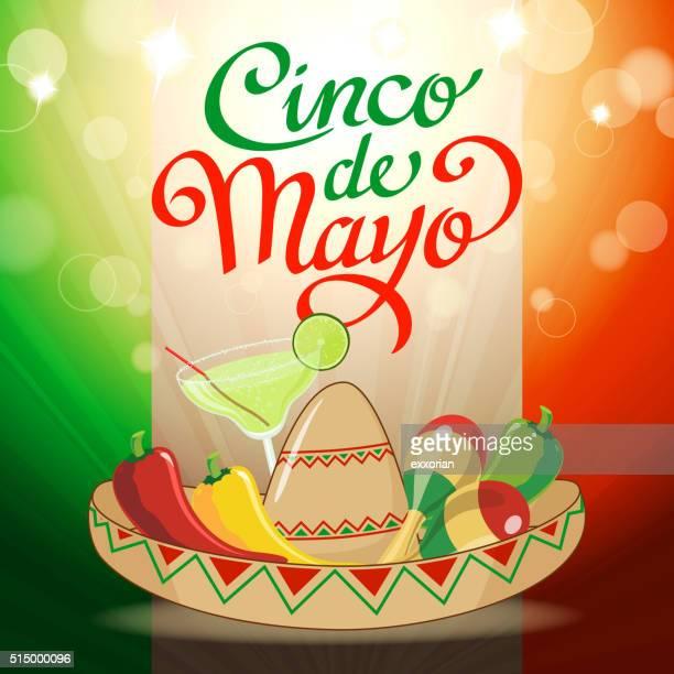 cinco de mayo party - margarita stock illustrations, clip art, cartoons, & icons