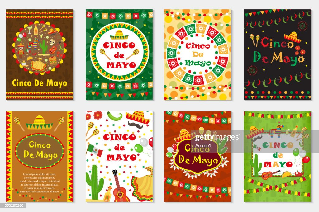 Cinco de mayo set greeting card template for flyer poster invitation cinco de mayo set greeting card template for flyer poster invitation mexican stopboris Image collections