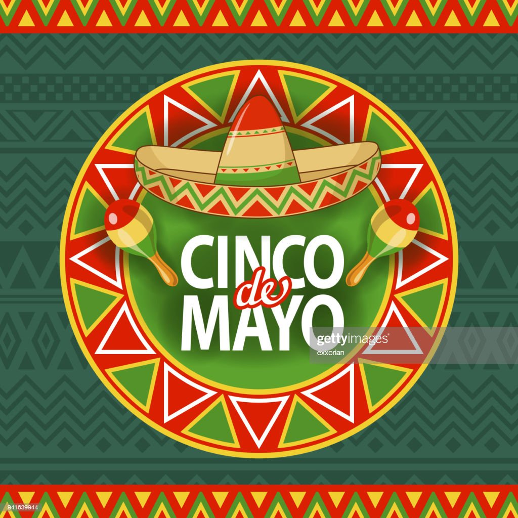 Cinco De Mayo Sombrero Celebration : stock illustration
