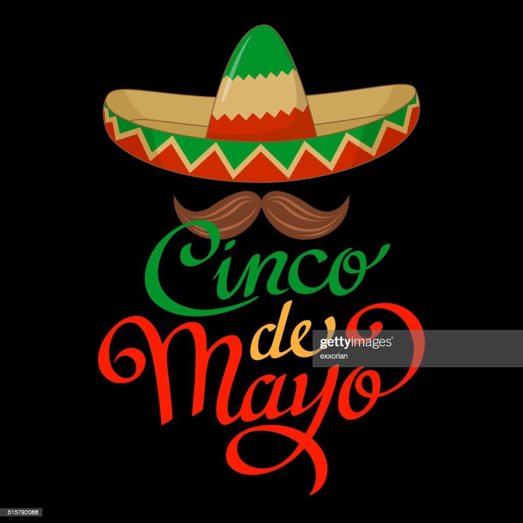 Cinco De Mayo Sombrero Symbol : Stock Illustration