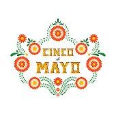 Cinco de Mayo typography banner vector
