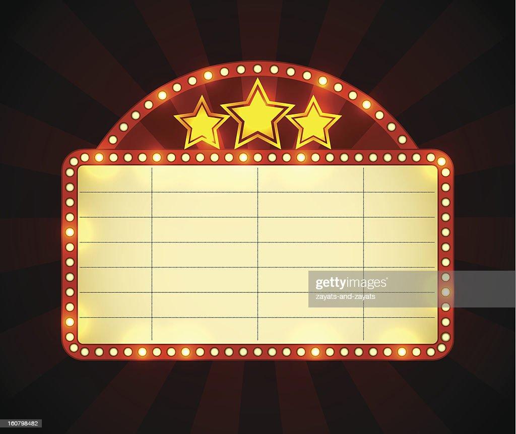 Cinema advertisement sign