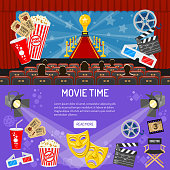 Cinema and Movie horizontal banners
