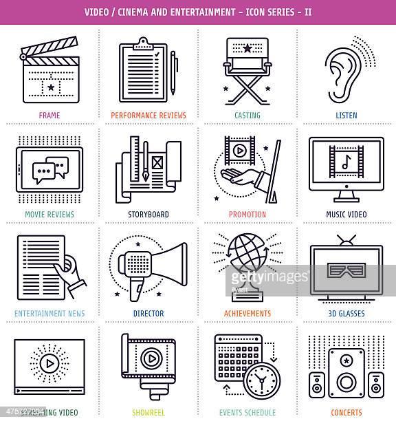 Cinema and Music Icons Set