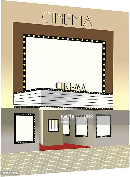 cinema building street storefront  VECTOR