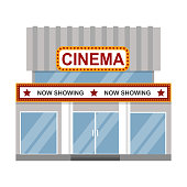 Cinema building vector illustration