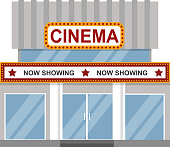 Cinema building vector.