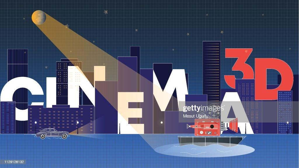 Cinema City : stock illustration