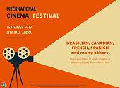 Cinema festival retro poster