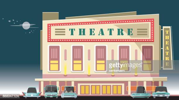 Cinema hall and 5 cool cars
