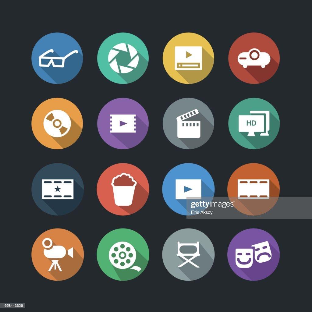 Cinema Icons : stock illustration