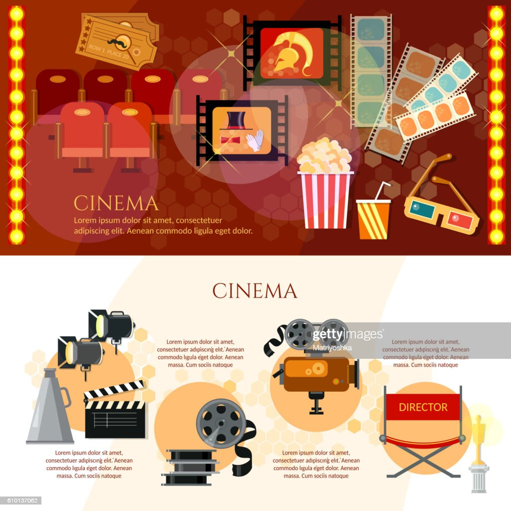 Cinema infographics festival movie