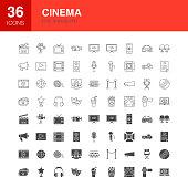 Cinema Line Web Glyph Icons