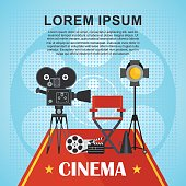 cinema poster with text