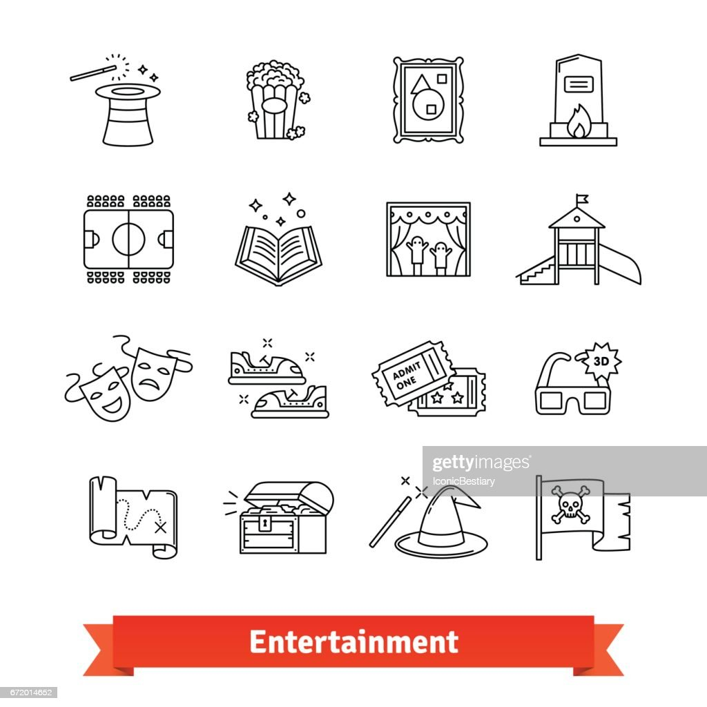 Cinema, theme park, galery, amusement events