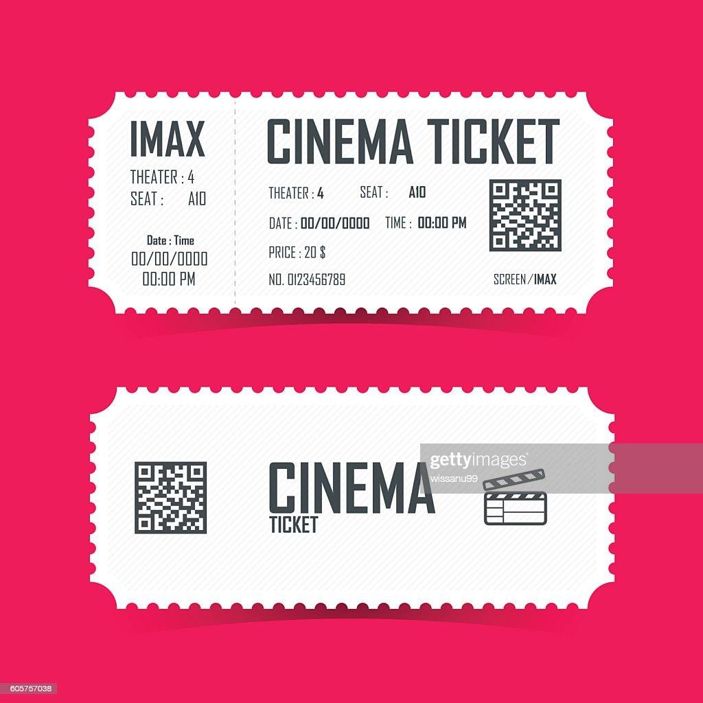 Cinema Ticket Card element design. Vector illustration