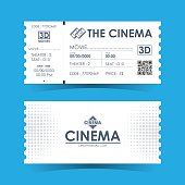 Cinema Ticket Card. Element template for design. Vector illustration.