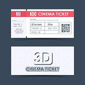 Cinema Ticket Card. Element template guideline for design. Vector illustration