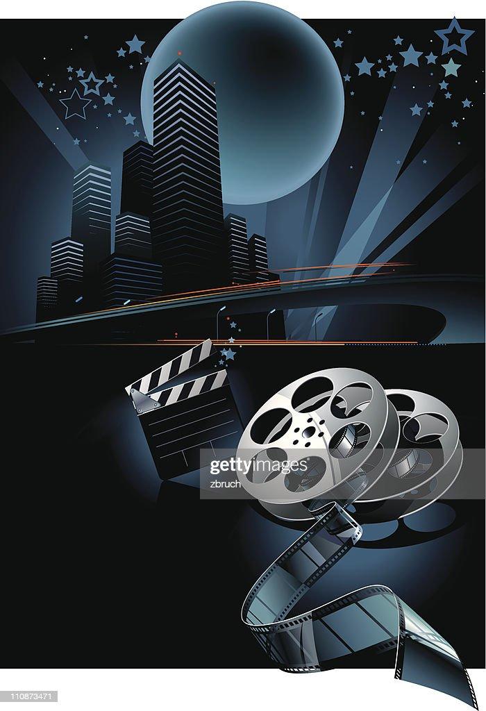 Cinema vector composition : stock illustration