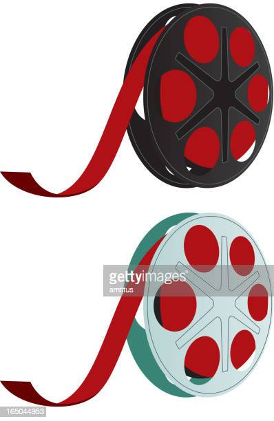 ilustraciones, imágenes clip art, dibujos animados e iconos de stock de de cine - rollo de cine