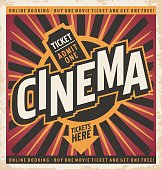 Cinema vintage poster design