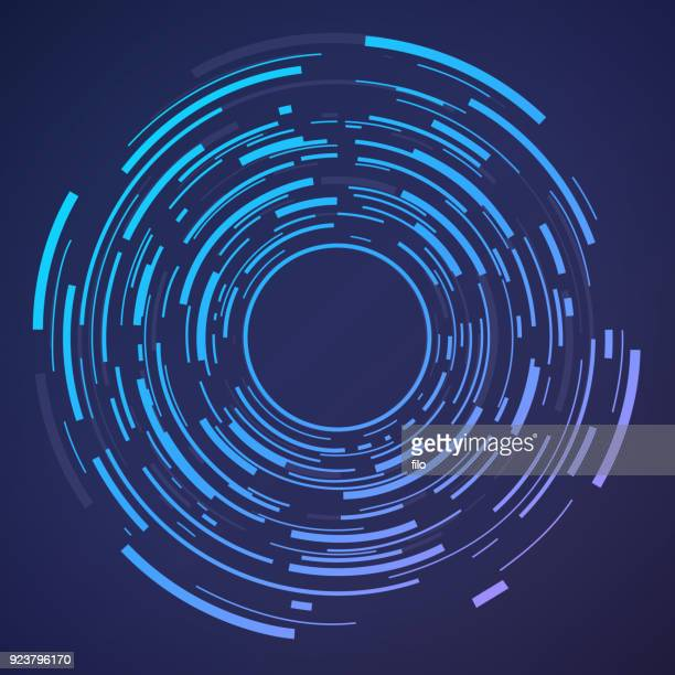 circle abstract target - single line stock illustrations