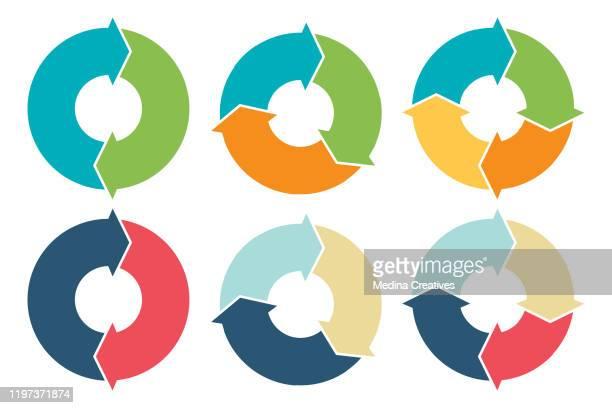 円矢印インフォグラフィック、図、オプション - 数字の3点のイラスト素材/クリップアート素材/マンガ素材/アイコン素材
