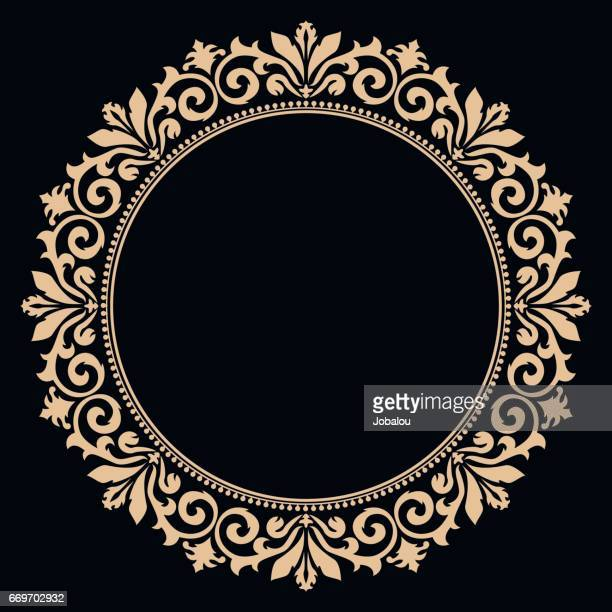 circle border curve antique - filigree stock illustrations