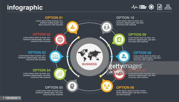 circle business infographic - infographic stock illustrations
