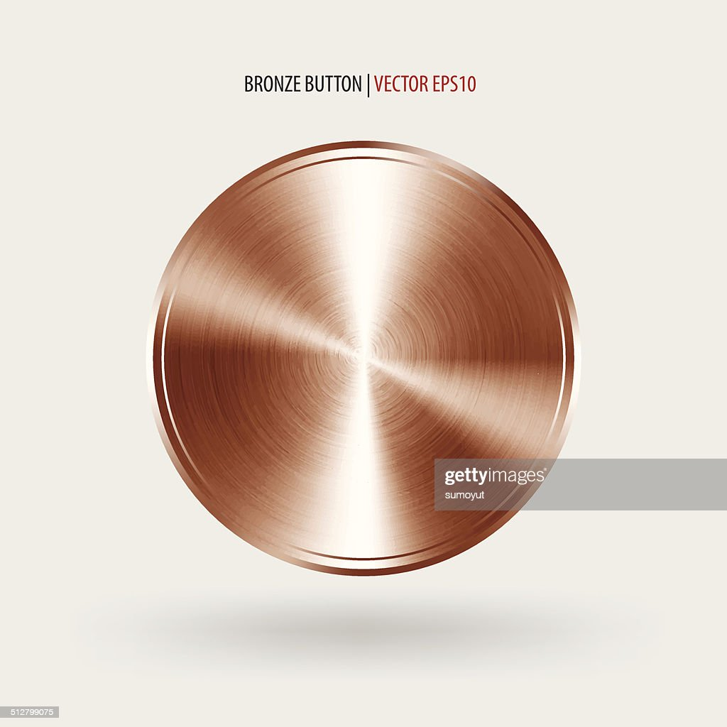 Circle button template with bronze texture.