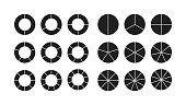 circle chart section segments set