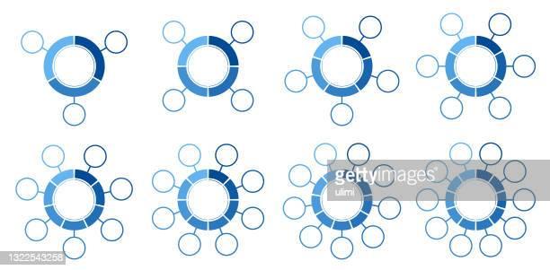 ilustraciones, imágenes clip art, dibujos animados e iconos de stock de gráficos de círculos - part of a series