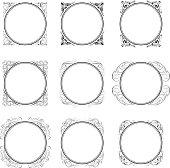 Circle corner ornamental frames