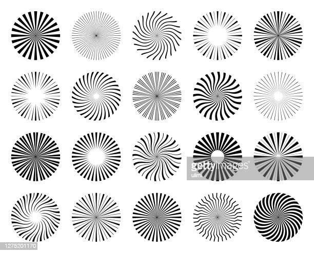 illustrazioni stock, clip art, cartoni animati e icone di tendenza di circle design elements - raggio di sole