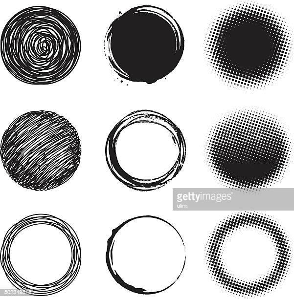 circle design-elemente - gepunktet stock-grafiken, -clipart, -cartoons und -symbole