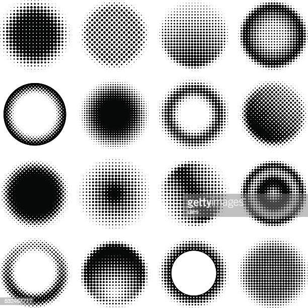 circle design elements - half tone stock illustrations
