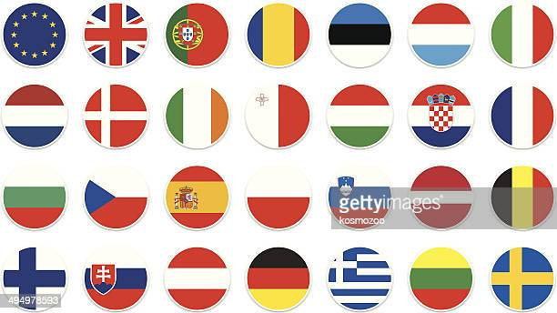 eu circle flagge - slowakei stock-grafiken, -clipart, -cartoons und -symbole