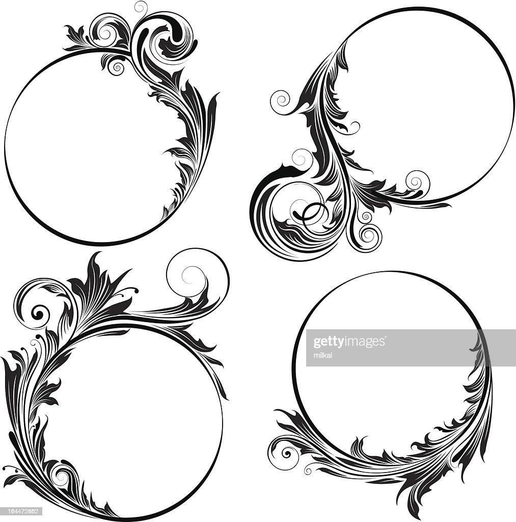 Circle floral design