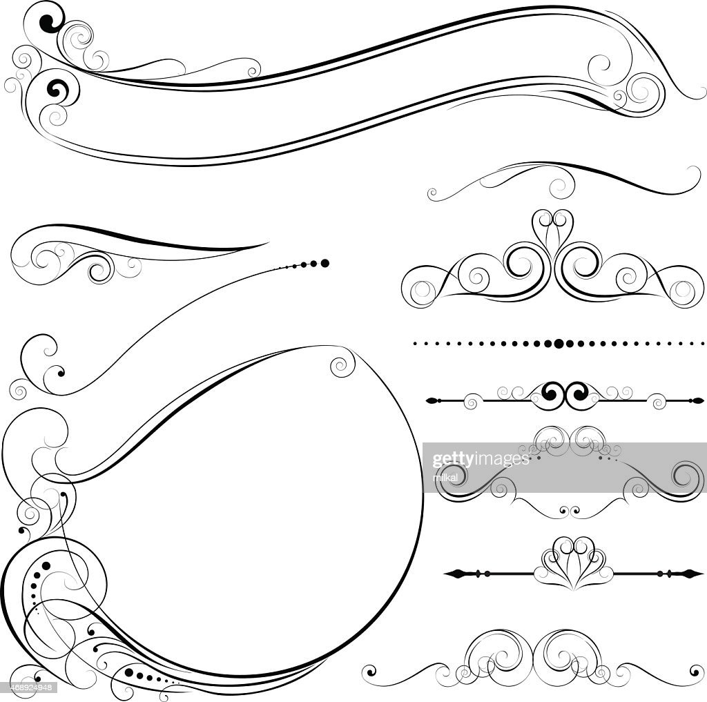Circle frame and design elements