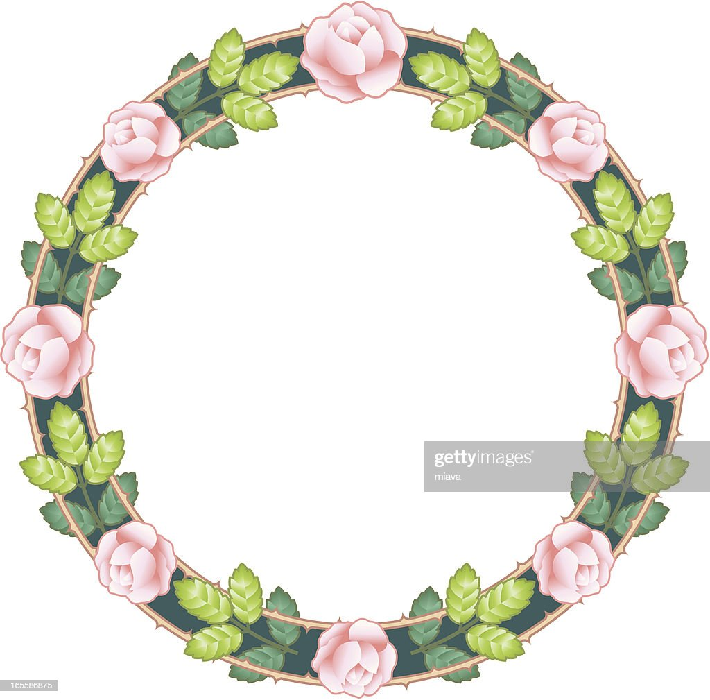 Circle from roses