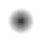 Circle geometric halftone. Gradient element. Retro abstract decoration. Vintage wallpaper.