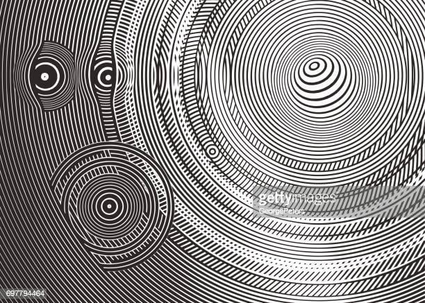 サークル ハーフトーン パターンの抽象的な背景
