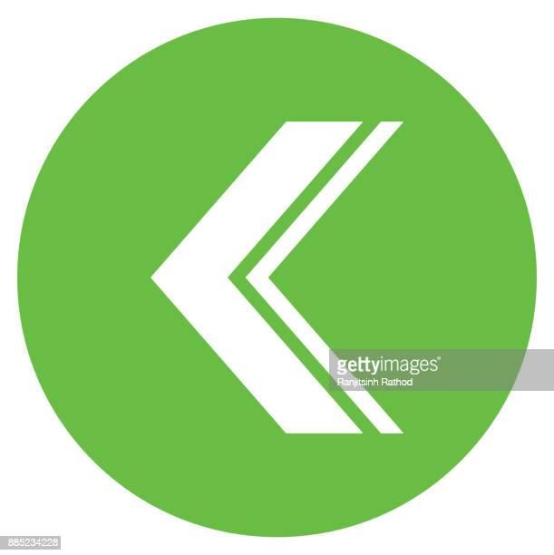 Circle icon arrow sign Left