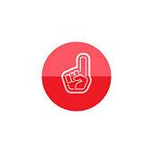 Circle icon - Foam glove