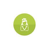 Circle icon - Stewardess avatar