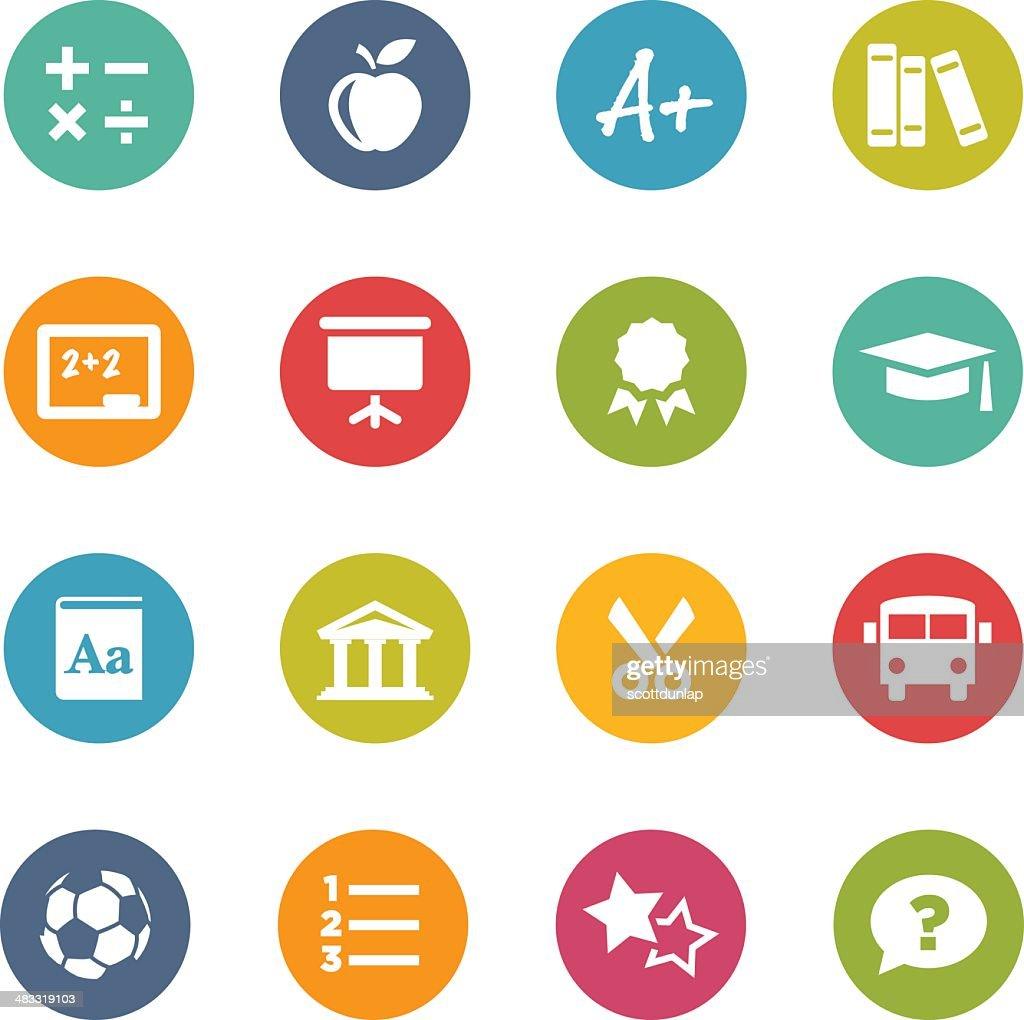 Circle Icons   Education