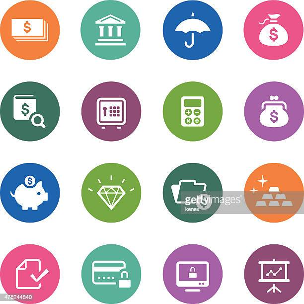 circle icons series | banking & finance - accounting ledger stock illustrations, clip art, cartoons, & icons